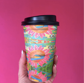 A coffee cup photograph