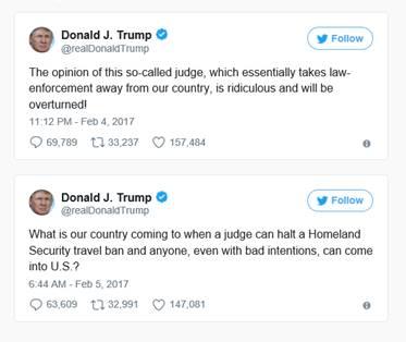 Donal J. Trumps' tweet