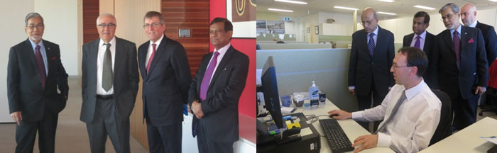Members of the delegation from the Supreme Court of Bangladesh attending the Principal Registry in Sydney, 2013