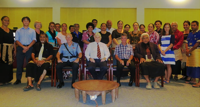 Participants at the Family Violence and Youth Justice workshop in Tonga, 2013
